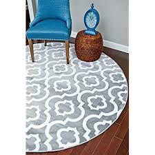 large circular rug 3028 gray moroccan trellis 6 feet 5 inch round area rug carpet large new wayfair large circular rugs