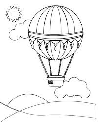 Small Picture Hot air balloon coloring pages with sun and clouds ColoringStar