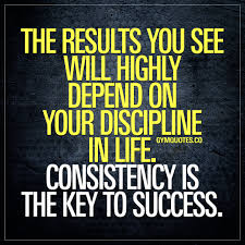 Gym Life Quote Consistency Is The Key To Success