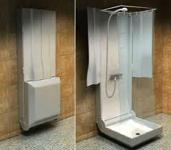 practical folding shower for small