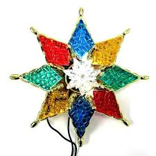 star topper stained glass star tree topper