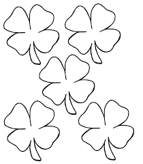 Small Picture Four Leaf Clover Coloring Page Kids Coloring