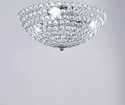 crystal chandelier flush mount new legend 3 light bowl shaped chrome finish metal and crystal shade