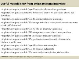 Interview Questions And Answers For Office Assistant Top 10 Front Office Assistant Interview Questions And Answers