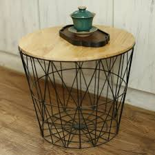 metal coffee side table stool wooden