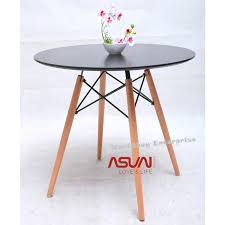 free gift eames designer 60cm birch round dining coffee table 11street malaysia dining table