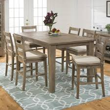 seven piece dining set: slater mill pine reclaimed pine counter height  piece dining set