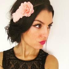 Headband Mariage Boh Me Bijou De Cheveux Avec Fleurs Corail Clair