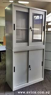 half height glass sliding door cupboards for