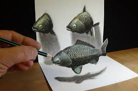 fish 3d drawing by sandor vamos fish 3d drawing