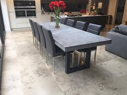 concrete dining table. 3 Metre Polished Concrete Dining Table