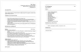 Carpenter Resume Job Objective Summary Of Qualifications Example To