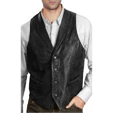 black leather vest zoom new