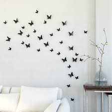 Paper Decorations For Bedrooms Creative Idea Bedroom Decor With Beautiful Black Butterflies