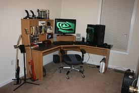fascinating gaming computer desk design with brown wooden computer desk using black glass pedestal desk be enchanting cool amazing computer furniture design wooden computer