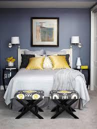 grey yellow bedroom charming