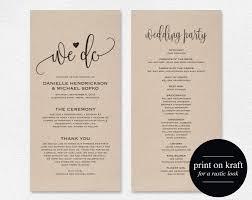 Wedding Ceremony Brochure 28 Inspirational Wedding Ceremony Program Templates Free