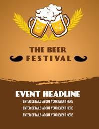 Event Flier Beer Event Flier Template Postermywall