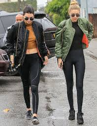 kendall jenner and gigi hadid show us how to wear yoga pants around town