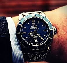 now everyone can own a breitling watch swiss aaa breitling breitling superocean blue dial metal bracelet mens watch