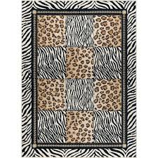 leopard print area rug 5 x 7 medium black and bronze animal print area rug leopard