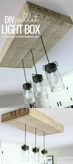 give your kitchen lighting some rustic style with this simple diy pallet wood light box
