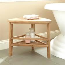 teak corner shower bench teak corner shower stool belham living corner teak shower bench with shelf