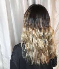 Dark Blonde Hair Ombre Balayage Waves