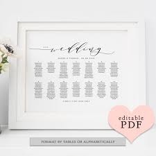 Incredible Diy Wedding Seating Chart Poster Template Ideas