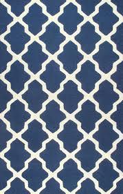 rugsville moroccan trellis indigo blue ivory wool rug 10592