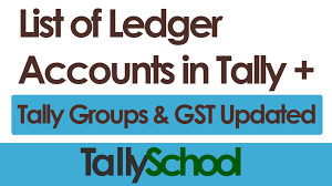 A Company S Ledger Is List Of Ledger Accounts In Tally Groups In Tally Pdf Gst Updated
