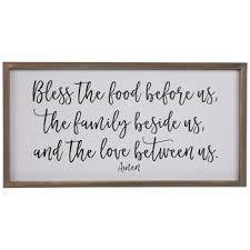 bless the food wood wall decor hobby