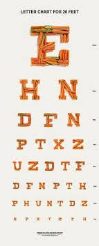 Eye Chart Letters Eye Chart Art