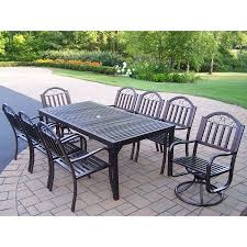 cool exceptional wrought iron patio dining sets 5 oakland outdoor dining sets