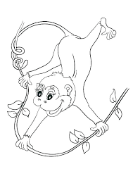 Monkey To Color Cute Monkey Coloring Pages To Print Color Cartoon