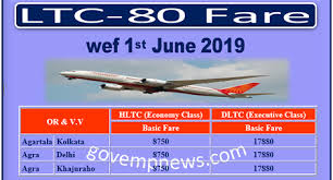 Stafftoday Air India Ltc 80 Fare List For The Month Of June
