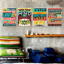 inspirational wall art for office. Inspiration Typography Motivation Quotes Vintage Poster Print Hippie Wall Art Picture Modern Bar Home Decor Canvas Painting Gift-in \u0026 Calligraphy Inspirational For Office S