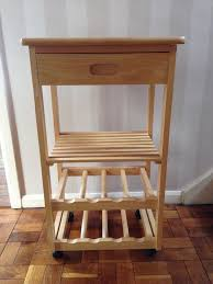 Butchers Block Kitchen Table Solid Wood Butchers Block Kitchen Table Wine Rack Storage Unit