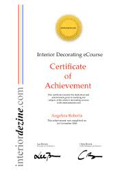 certificate of interior design. Wonderful Certificate Interior Decorating Certificate Inside Certificate Of Interior Design O