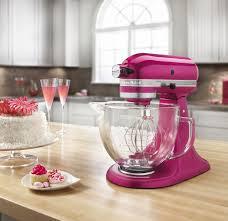 Designer Kitchen Aid Mixers Kitchenaid Artisan Raspberry Ice Stand Mixer Ksm155gbri