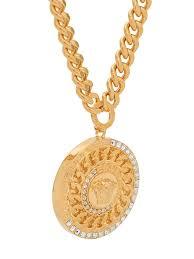 versace medusa pendant chain necklace