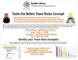events belbin taste the belbin concept