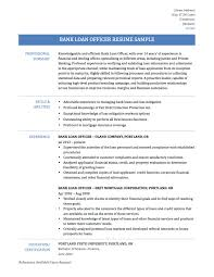 Mortgage Loan Officer Resume Sample Loan Officer Resume Examples Examples Of Resumes 24