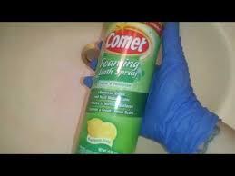 comet foaming bath spray review demo crazy cleaner