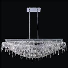 arc glow crystal chandelier flush mount 573qm5lsp 3c