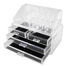 Amazon.com: Vencer Jewelry and Makeup Storage Display Boxes (1 Top 4  Drawers),Cosmetic Organizer: Home & Kitchen