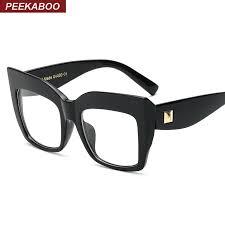2018 whole kaboo new 2016 brand large black square frame glasses designer fashion cat eye glasses frames for women female uv oculos from xiacao