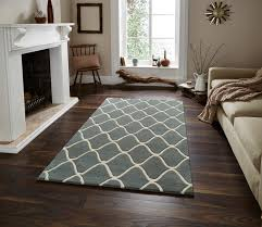 wave design hand tufted  wool rug contemporary home decor