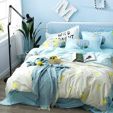 blue bed sheets tumblr. Blue Bed Sheets Cotton Pillow Case Lemon Pattern Duvet Cover Set Queen Size . Tumblr P