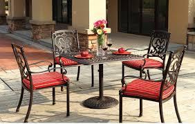 patio furniture dining set cast aluminum 36 square table 5pc santa barbara